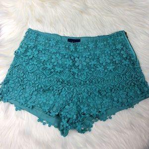 Pants - Crochet Blue Shorts